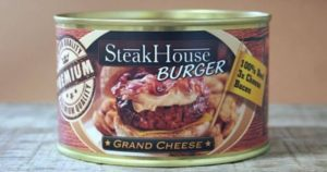 Steakhouse Burger in a can